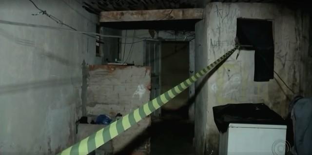Quarto da idosa foi isolado para o trabalho da perícia em Bauru (Foto: Reprodução/TV TEM).