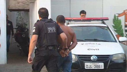 Homem preso em Araçatuba durante a operação Homem de Ferro, que busca envolvidos no assalto a Protege (Foto: Reprodução/TV TEM)