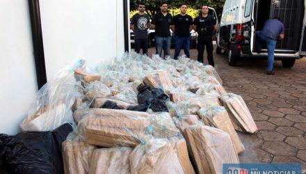 Foram incinerados mais de 1,5 mil Kg de maconha (Cannabis Sativa). Foto: MANOEL MESSIAS/Agência