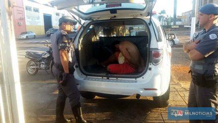 """""""Beto"""" foi preso no cruzamento das ruas Pereira Barreto com Princesa Isabel, na vila Mineira. Foto: MANOEL MESSIAS/Agêncis"""