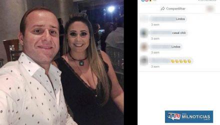 Empresário Roberto Santos Oliveira e a Érica Cristina Carpi Oliveira, tesoureira da Prefeitura de Jales, foram presos pela PF (Foto: Reprodução/Facebook)