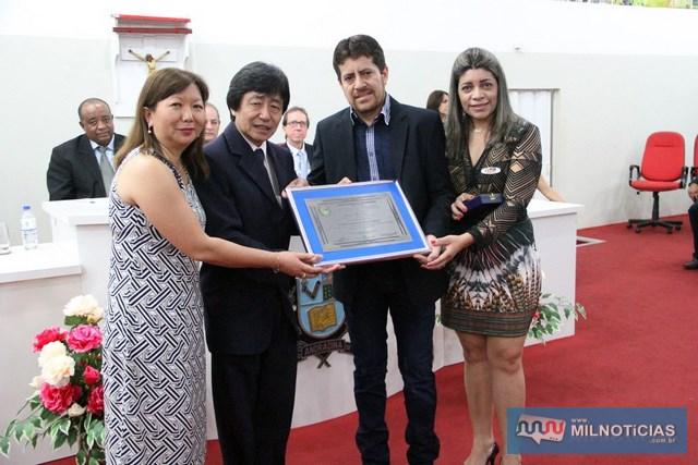 A esq., casal Jamil e Márcia Ono, ladeado pelo ex-vereador Cristiano e sua irmã, Leila Rodrigues. Foto: Divulgação