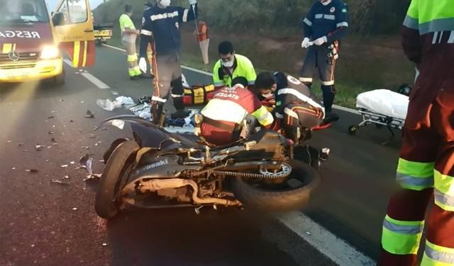 Policial militar morre em acidente na Rodovia dos Bandeirantes em Limeira (Foto: Reprodução/EPTV).