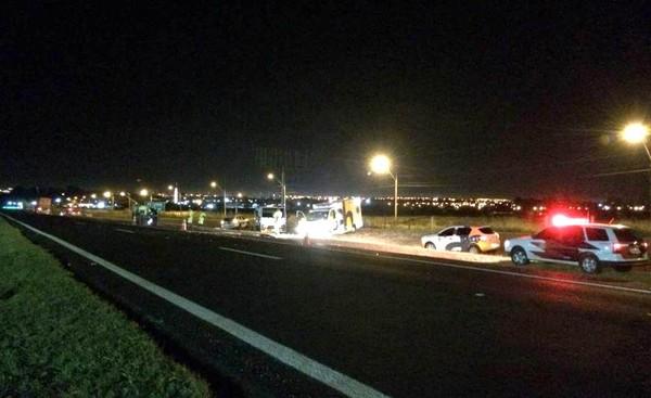 Acidente aconteceu na Rodovia Washington Luís (SP-310) em Araraquara (Foto: ACidadeON/Araraquara).