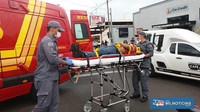 Vítima foi socorrida pelos bombeiros ao pronto atendimento municipal, recebeu curativos e foi liberado posteriormente. Foto: MANOEL MESSIAS/Agência