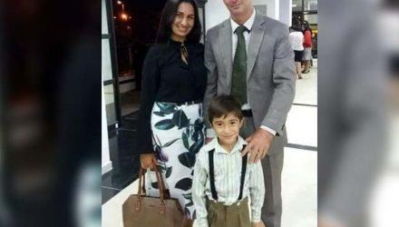 Pastor Mário César Venzel, de 40 anos, a cantora gospel Michele Figueredo Santos Venzel, de 37, e Pedro Miguel Figueredo Venzel, de 5 anos. Todos morreram no local. Foto: Arquivo Pesoal