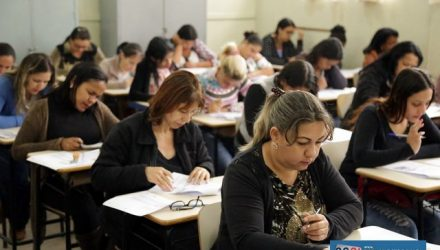 Prova prática acontece neste sábado (18) e domingo (19) na Secretaria Municipal de Educação. Foto: Secom/Prefeitura