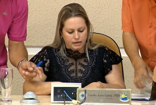 Jaqueline Aguera Sanfelix (PSDB) (Foto: Reprodução/TV Fronteira)