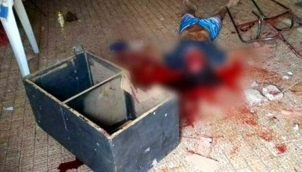 Vítima foi morta com pedradas na cabeça. Foto: Whats App/colaboração