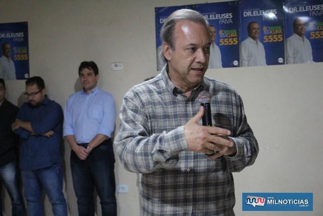 Dr. Eleuses Paiva, vice prefeito de Rio Preto e candidato a deputado federal. Foto: MANOEL MESSIAS/Mil Noticias
