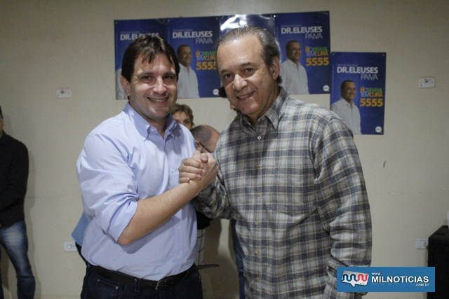 Maurício Carneiro (esq.) e Eleuses Paiva. Foto: MANOEL MESSIAS/Mil Noticias