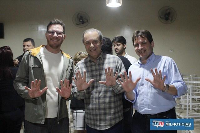 A partir da esq., presidente da OAB local, Betreil Chagas, Eleuses Paiva e Maurício Carneiro. Foto: MANOEL MESSIAS/Mil Noticias