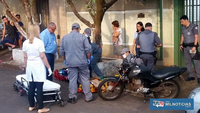 Rapaz sofreu contusão na perna esquerda e escoriações pelo corpo, felizmente leves. Foto: MANOEL MESSIAS/Agência