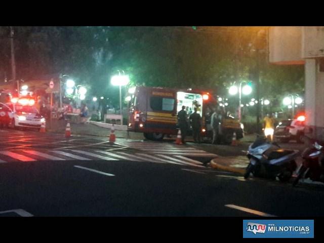 Acidente aconteceu quando vítima atravessa a rua Paes leme com destino ao trailer onde trabalha. Foto: DIVULGAÇÃO