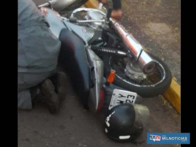 Condutor da motocicleta não teve tempo de frear para evitar o atropelamento. Foto: DIVULGAÇÃO