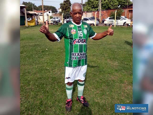 """""""Zequinha"""" é um dos fundadores do Guarani da Vila Botega. Foto: DIVULGAÇÃO"""