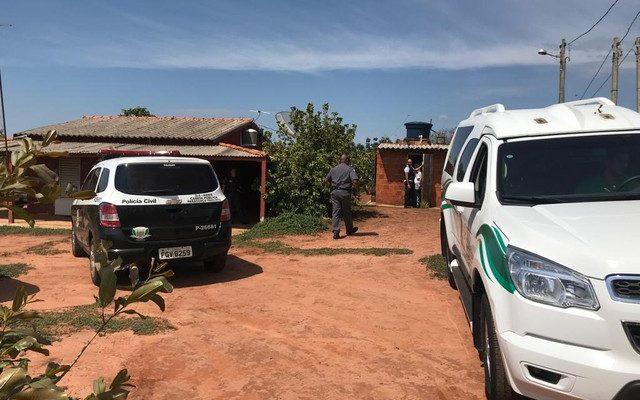 Homem e mulher foram encontrados mortos no sítio em Paraguaçu Paulista — Foto: Guilherme Lopes/TV TEM.