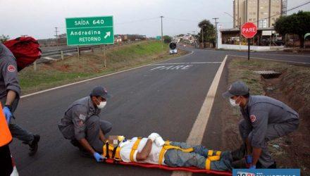 Acidente aconteceu na saída da Rondon para o acesso da marginal da rodovia. Foto: MANOEL MESSIAS/Agência