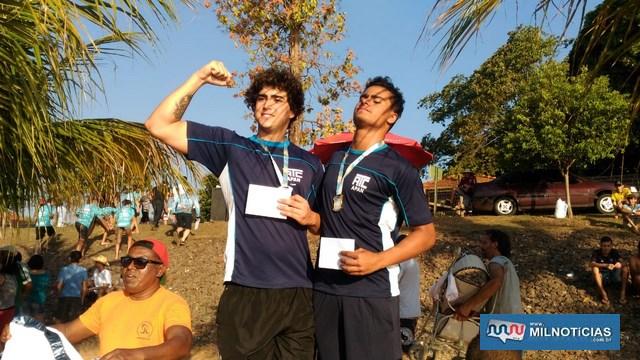 Pedro Luiz Germiniano da Silva, e Ruan Carlos de Almeida Carneiro (esq.), fizeram a dobradinha. Foto: DIVULGAÇÃO