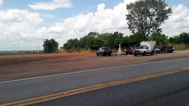 Corpo do caminhoneiro Gustavo Diresta foi encontrado em estrada em Diamantino — Foto: Polícia Civil de Mato Grosso/Assessoria