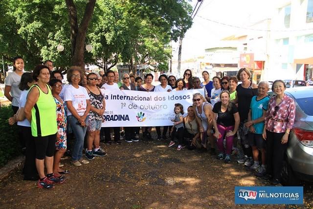 O evento tem o apoio do Conselho Municipal do Idoso e faz do projeto de Ação Saúde e Valorização da Pessoa Idosa. Foto: Secom/Prefeitura
