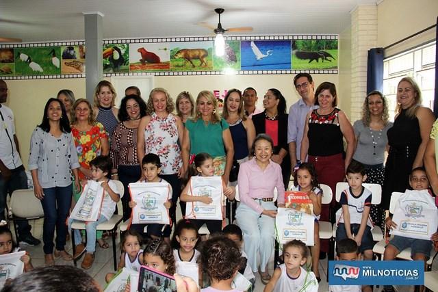 """""""Criança Pequena também Lê"""" será destinando a alunos do Pré I e Pré II em Andradina. Fotos: Secom/Prefeitura"""
