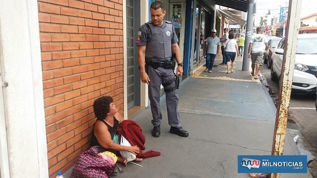 """""""Maria do Croche"""" foi detida pela PM na rua Paes Leme e encaminhada para a Delegacia de Polícia. Foto: MANOEL MESSIAS/Agência"""