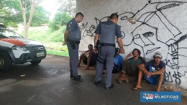 Outros andarilhos foram detidos para averiguação e liberados posteriormente. Foto: MANOEL MESSIAS/Agência
