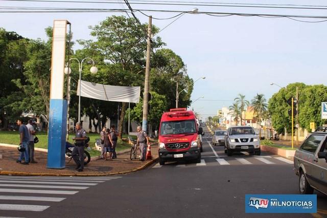 Acidente aconteceu no cruzamento da Av. Guanabara, com rua Bandeirantes, centro.  Foto: MANOEL MESSIAS/Mil Noticias