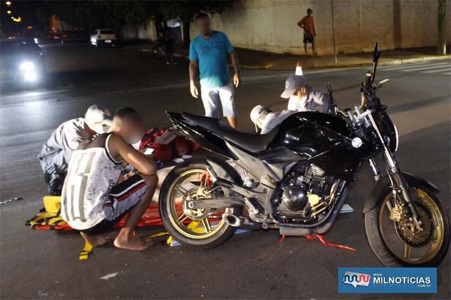 Motocicleta Yamaha Fazer 250cc, sofreu algumas avarias e precisará passar por reparos antes de iniciar viagem até Curitiba. Foto: MIL NOTICIAS/Agência