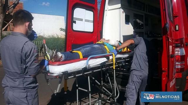 Mãe, que seguia como passageira sofreu as escoriações e contusões pelo corpo mais graves e precisou do auxilio dos bombeiros até a UPA. Foto: MANOEL MESSIAS/Agência