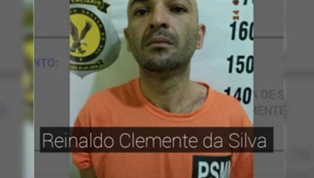 Foragido foi capturado pela Polícia Militar de Lavínia e encaminhado para a carceragem da cidade. Foto:  DIVULGAÇÃO