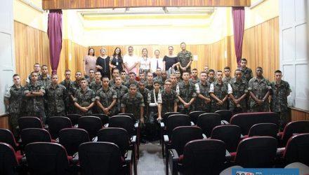 Trabalho foi feito com jovens do Tiro de Guerra. Foto: Secom/Prefeitura