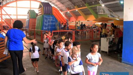 Festival Recreativo da Educação foi realizado no ginásio municipal de esportes. Foto: Secom/Prefeitura