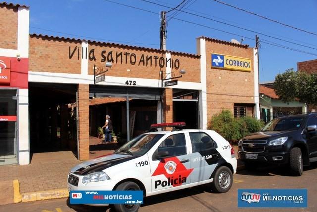 Agência roubada fica em um conjunto de lojas e próximo de uma agência bancária. Foto: MANOEL MESSIAS/Mil Noticias