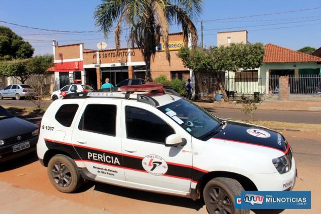 Perícia compareceu ao local. Foto: MANOEL MESSIAS/Agência