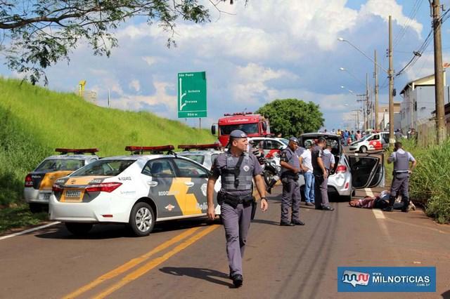 Ação criminosa mobilizou grande numero de policiais militares e rodoviários na marginal da Rondon.  Foto: MANOEL MESSIAS/Mil Noticias