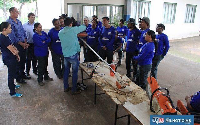 Participantes Frente de Trabalho do Governo de Andradina passam por nova qualificação. Foto: Secom/Prefeitura