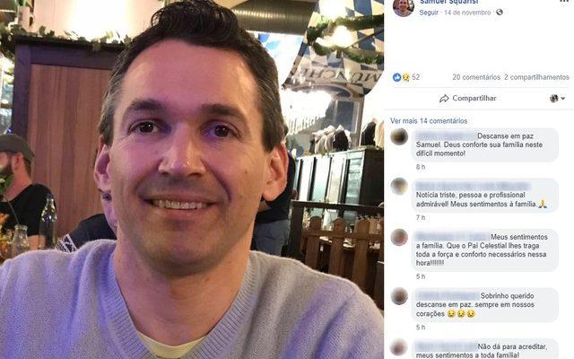 Samuel Rodrigues Squarisi, de 38 anos, não resistiu a intoxicação causada pelo cloro em academia de Campinas (SP) — Foto: Reprodução/Facebook.