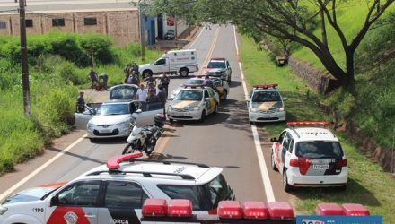 Abordagem aos bandidos aconteceu na marginal direita da rodovia Marechal Rondon. Foto: MANOEL MESSIAS/Mil Noticias