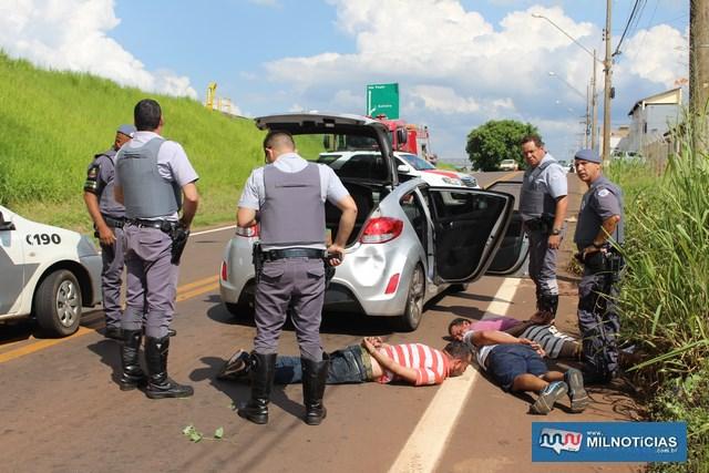 Os três acusados tentaram resistir a prisão, ferindo dois policiais, sendo um militar e outro rodoviário. Foto: MANOEL MESSIAS/Mil Noticias