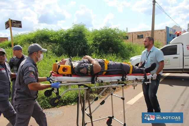 Cabo da PM Berti, da Rocam ficou gravemente ferido durante perseguição. Foto: MANOEL MESSIAS/Mil Noticias