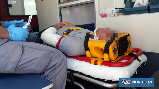 Marceneiro sofreu escoriações no cotovelo e joelho, lado esquerdo. Foto: MANOEL MESSIAS/Agência