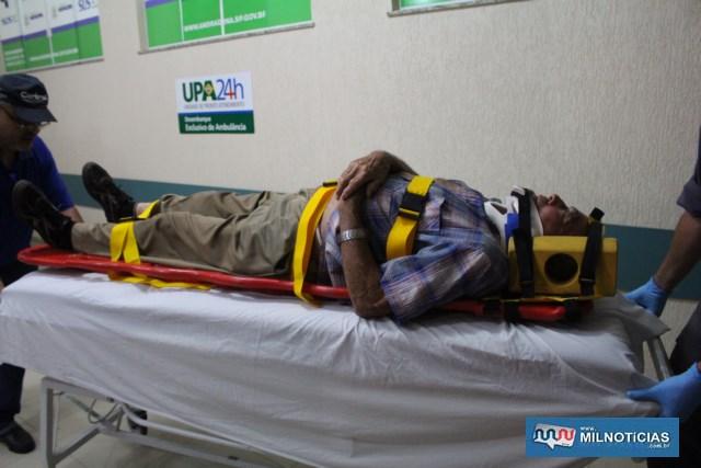 Aposentado reclamava de dores fortes no tórax e foi submetido a exames de Raio X, e nenhuma fratura foi constatada. Foto: MANOEL MESSIAS/Agência