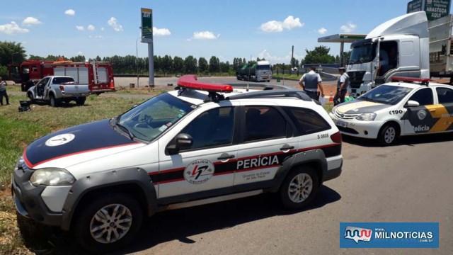 Perícia técnico/científica compareceu ao local e deve emitir laudo sobre as causas do acidente em até 30dias. Foto: MANOEL MESSIAS/Agência