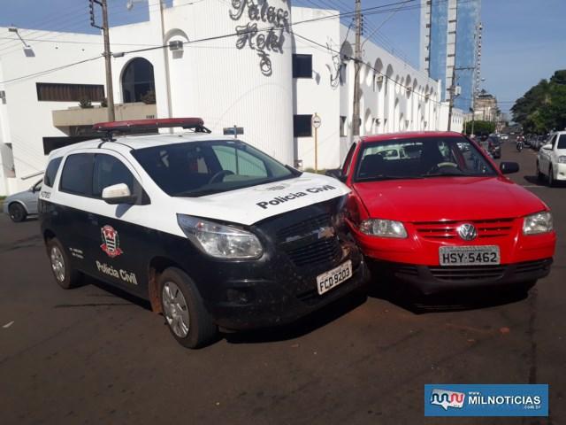 Policial civil de Itapura havia saído do plantão da Delegacia Seccional de Andradina e seguia pela Av. Guanabara sentido à sua cidade de origem. Foto: MANOEL MESSIAS/Agência