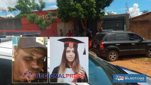 A adolescente Julia Maria de Lima Barbassa Mendes, de apenas 14 anos e Daniel Gaspar Barbosa, suspeito do crime. Foto: Facebook/Reprodução