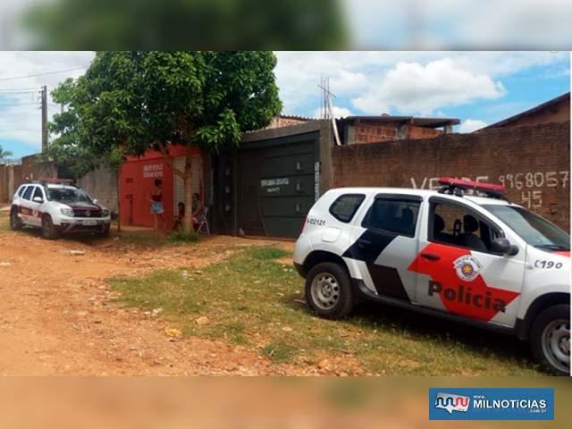 Polícia Militar e perícia Técnico/científica estiveram no local do homicídio. Foto: RP10