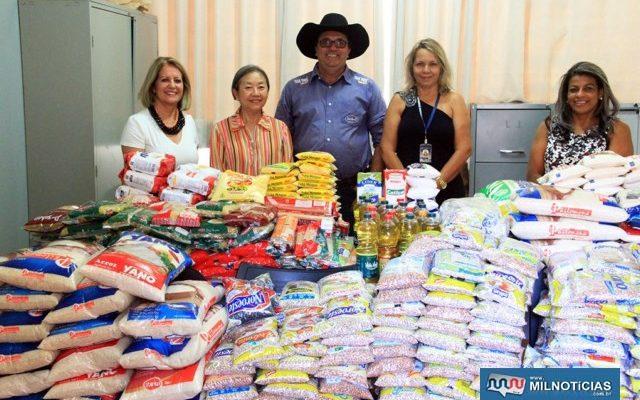 Doação ajuda famílias andradinenses. Foto: Secom/Prefeitura