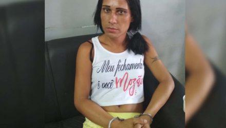 """O travesti Fabiano Antônio, o """"Bibi"""", de 35 anos, já esteve preso por furto. Foto: DIVULGAÇÃO"""